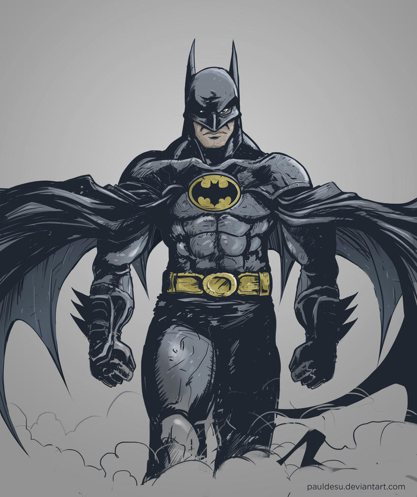Michael Keaton Batman Fanart by pauldesu