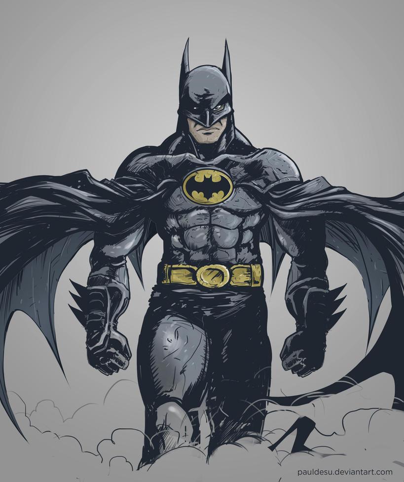 Michael Keaton Batman Fanart by pauldesu