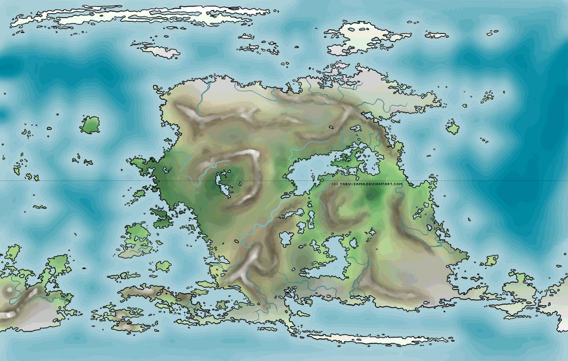 Fantasy world map by Taru Sama on DeviantArt