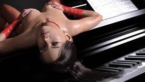 Vanessa loves pianos