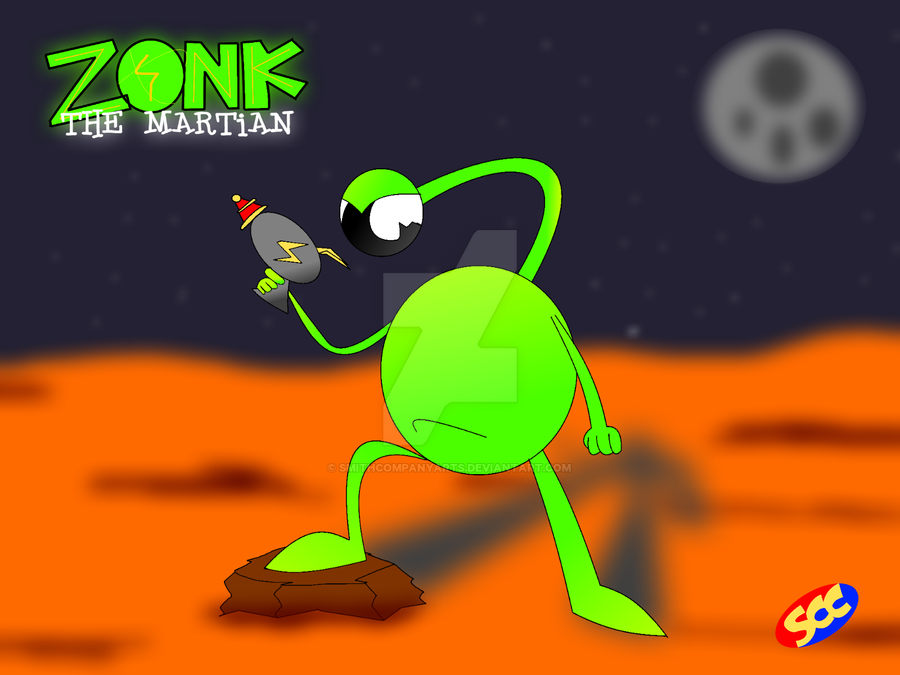 Zonk the Martian lobby card by smithandcompanytoons