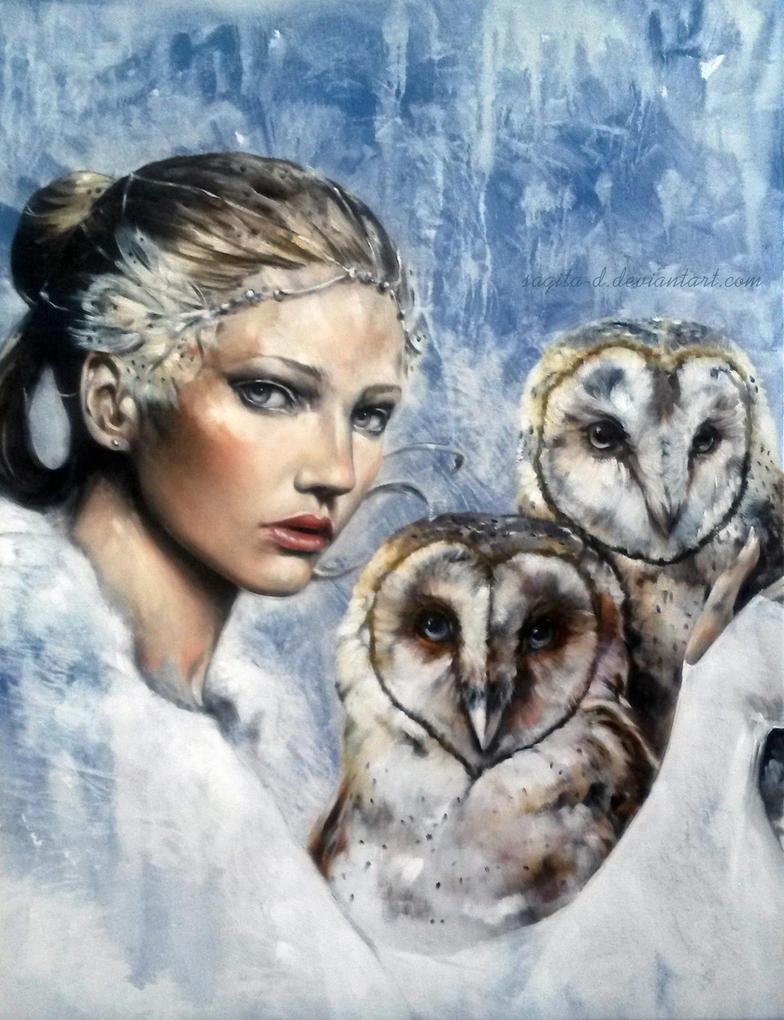 La Dama de las Lechuzas by Sagita-D