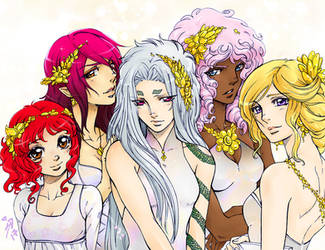 Mundo Dorado - Girls by Sagita-D