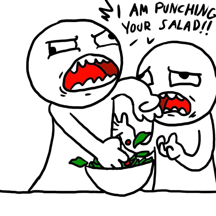 Asdf I Am Punching Your Salad I am punching your salad gifAsdf I Am Your Sandwich