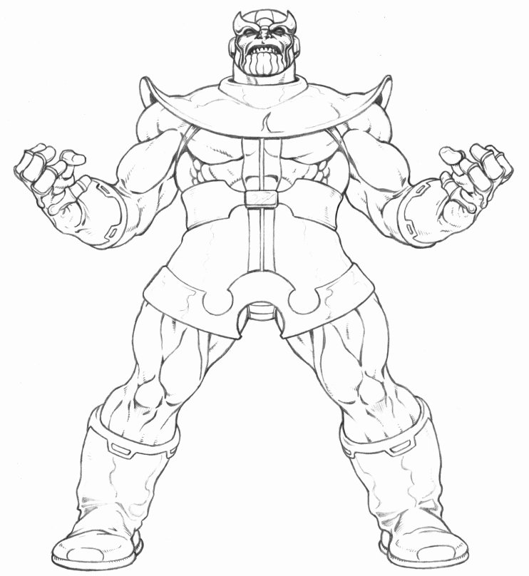 Summary Thanos Fortnite Coloring Page Super Fun Coloring