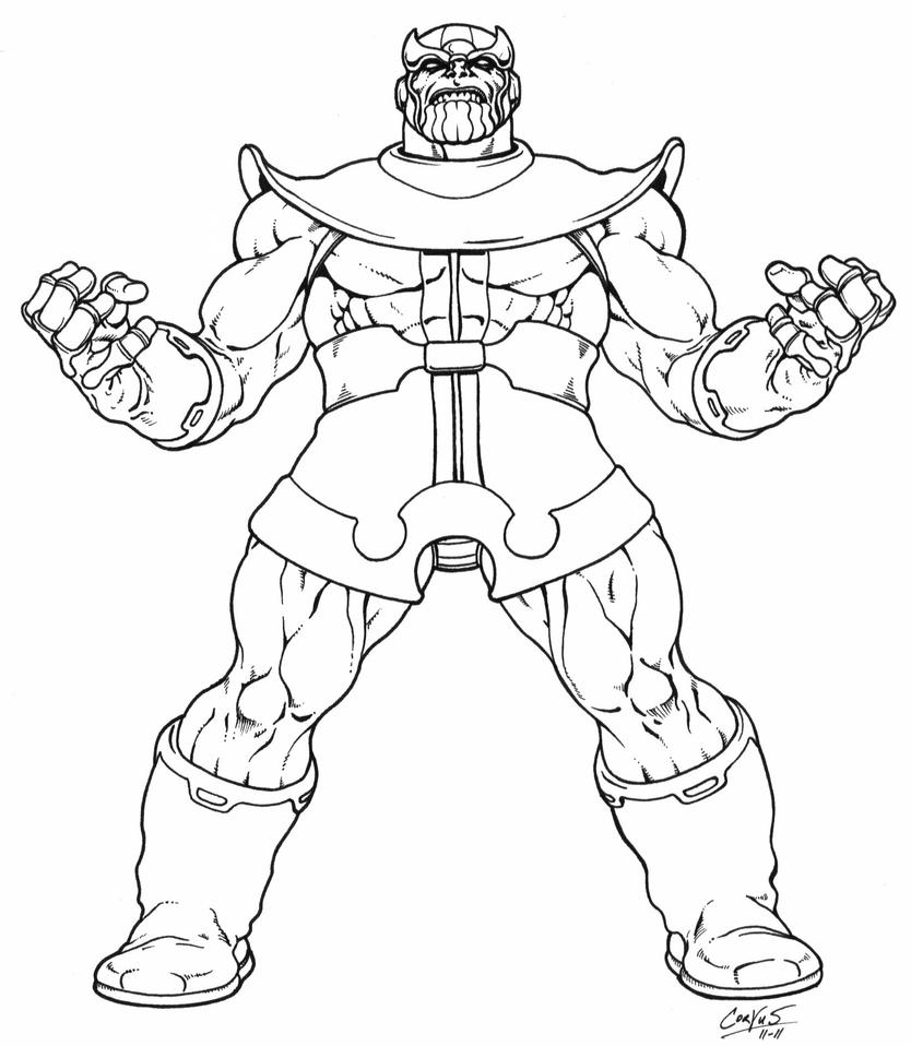 Thanos Returns   Inked By Corvus1970 ...