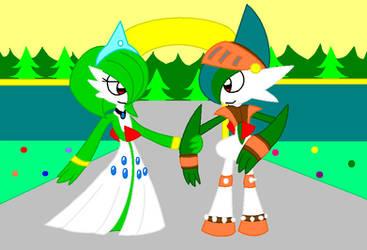 Lady Gardevoir and Sir Gallade by cmyneo
