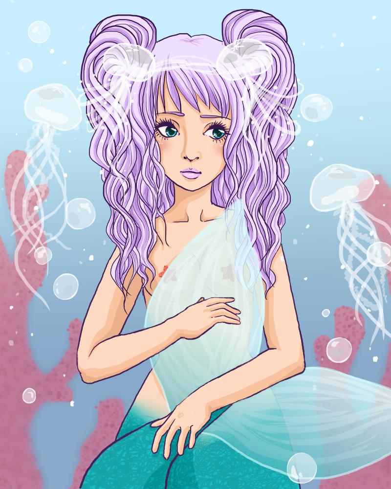 Jellyfish friends by liinalinni
