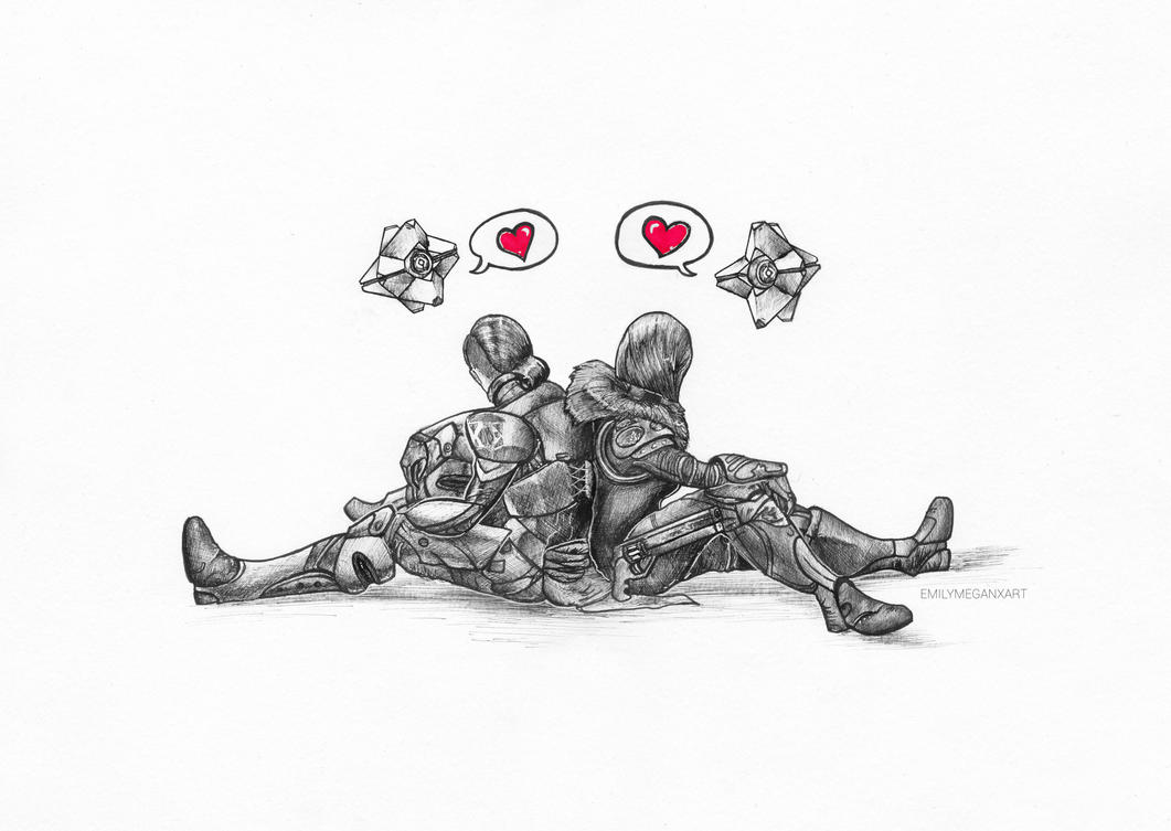 Titan + Hunter Couple drawing