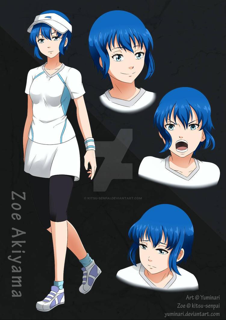 OC Zoe Akiyama Character Sheet (2017) by Kitsu-Senpai