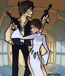 Han and Leia by Alexa-B