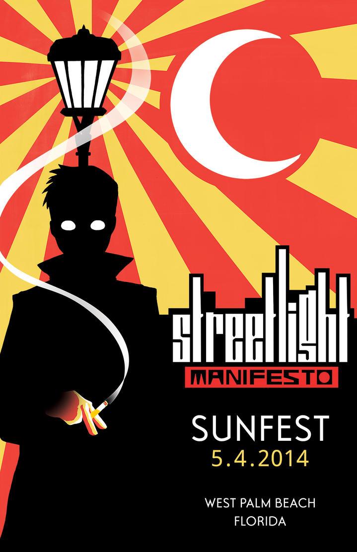 Streetlight Manifesto Gig Poster for Sunfest by ... Streetlight Manifesto Wallpaper