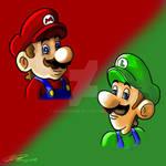 Comic Mario Luigi Design Busts