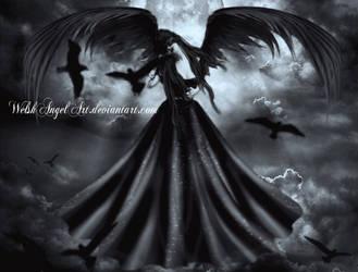 *dark angel* by DaisyAmethystArt