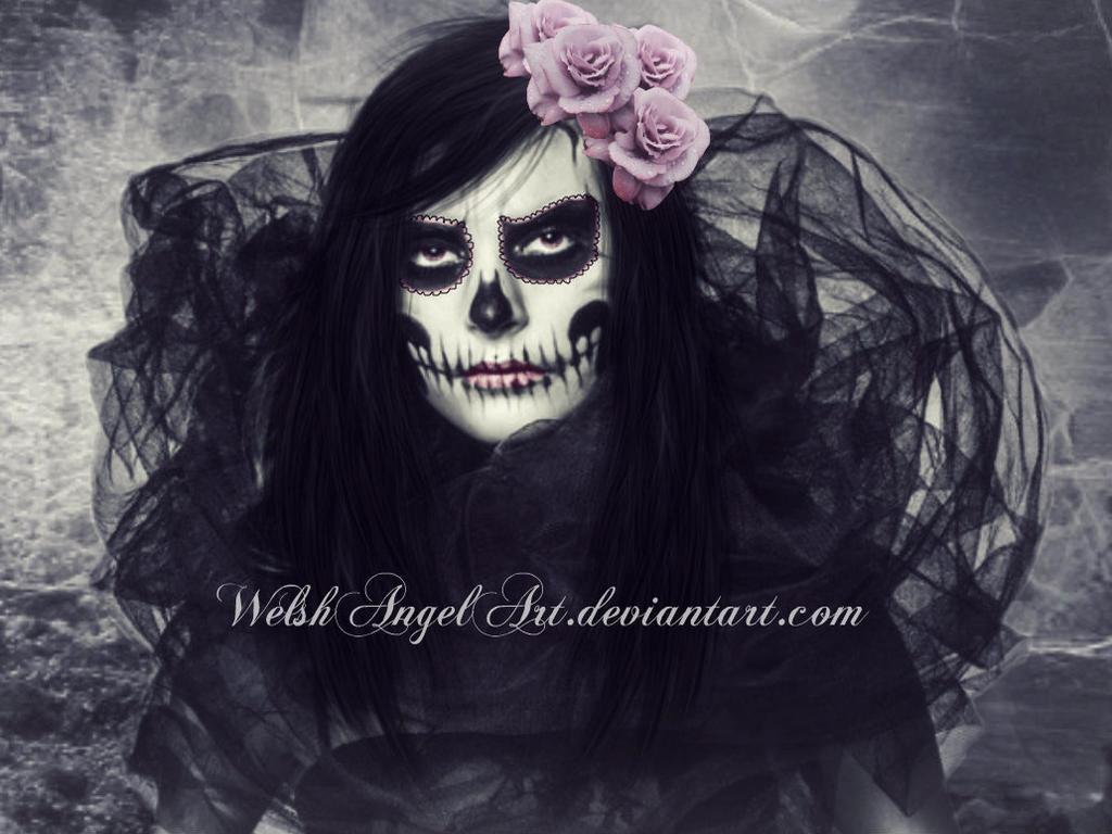 *pink sugar skull* by WelshAngelArt