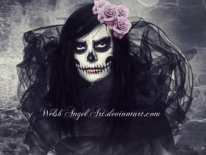 *pink sugar skull* by AmethystDreamerArt