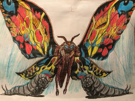 Mothra (Legendary Style) by BozzerKazooers