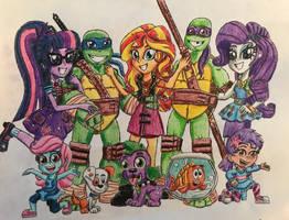 Equestria Ninja Guppies Group 1 by BozzerKazooers
