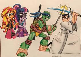 Ninja/Samurai Clash by BozzerKazooers