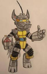 Equestria Ninjas: Metalhead (Robotic Anthro) by BozzerKazooers