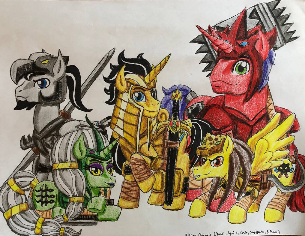 Equestria Ninjas Kiican Generals By Bozzerkazooers On Deviantart