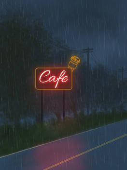 Long drive in the rain