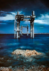 Infrared Pier by EmMelody