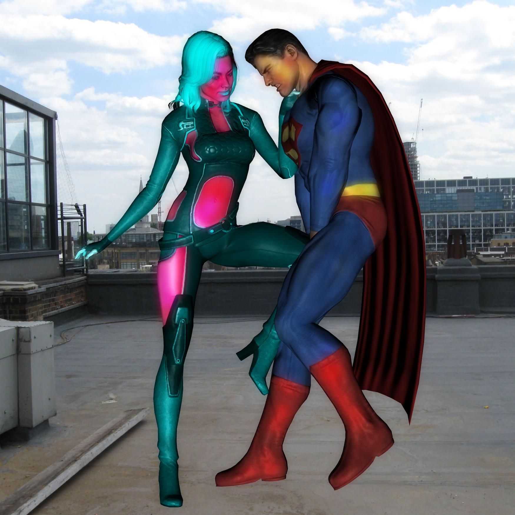 Elqenna vs Superman: Ballbusting 1 by Shitzunyehnyeh on