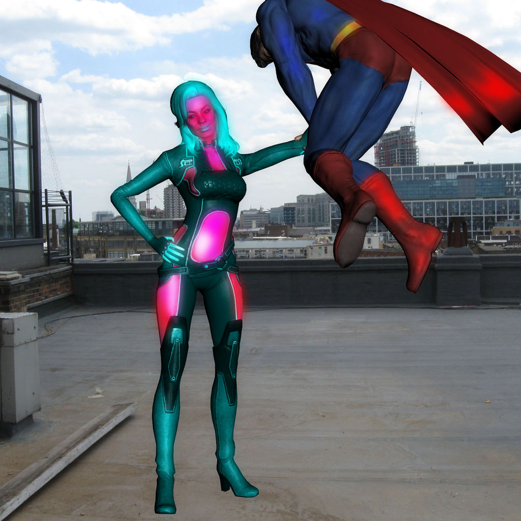 Elqenna vs Superman: Ballbusting 2 by Shitzunyehnyeh on
