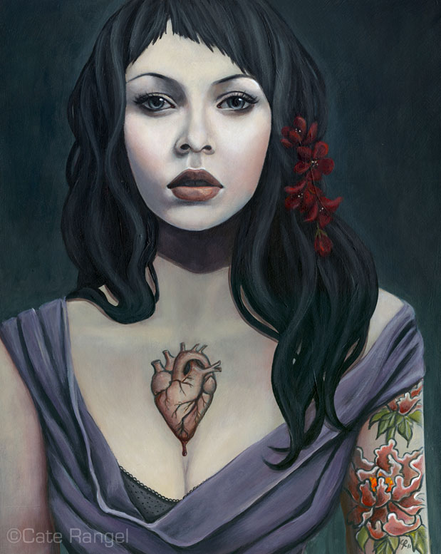 Vera - Original Painting by caterangel