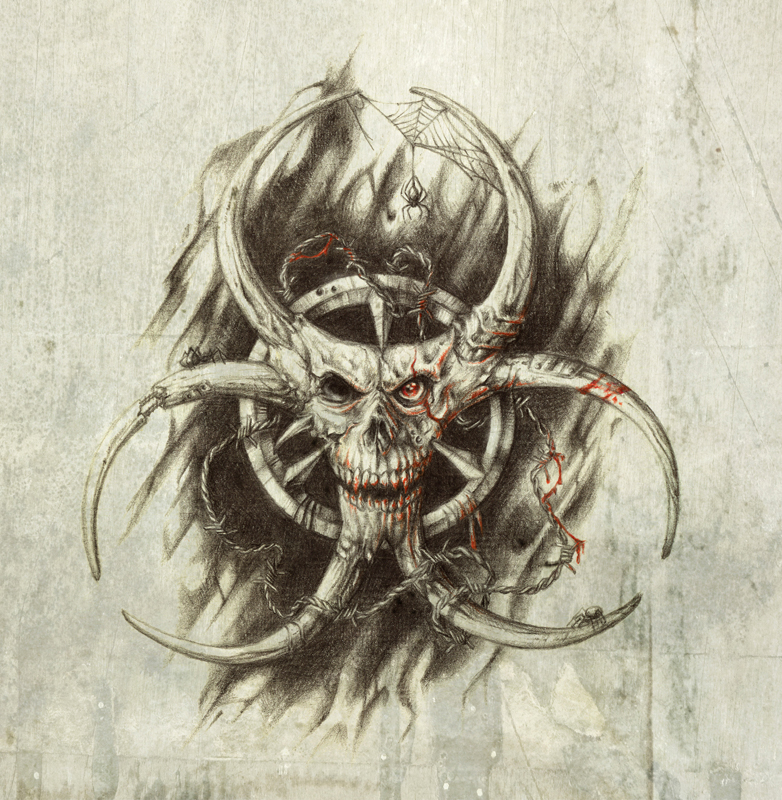 biohazard skull -#main
