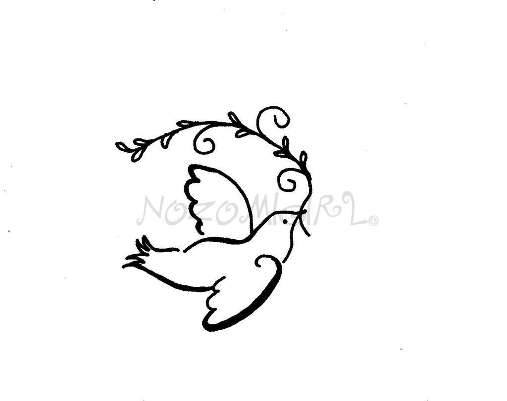 dove of peace tattoo design by nozomigirl on deviantart. Black Bedroom Furniture Sets. Home Design Ideas