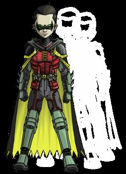 Damian in Arkham style