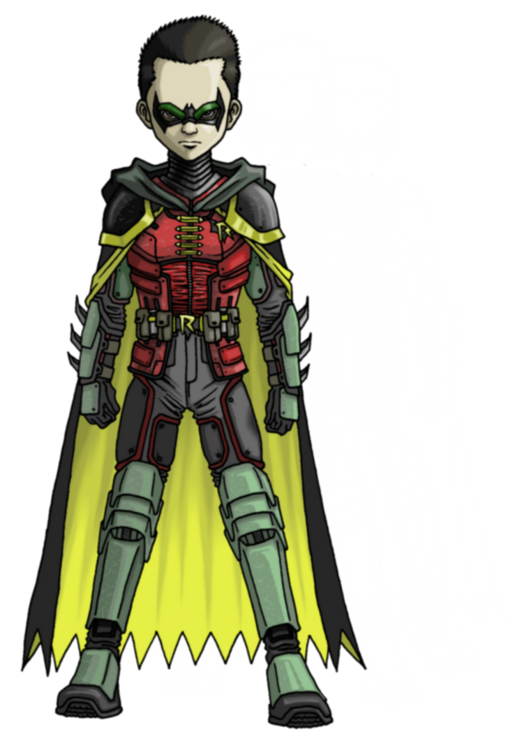 Damian in Arkham style by Angelic-Zinle