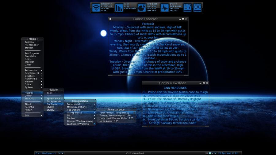 Fluxbox on Mepis 11 0 by ElderVLaCoste on DeviantArt