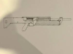M1216 shotgun