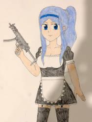 Hiumi with maid dress