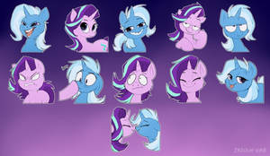 Trixie and Starlight stickers