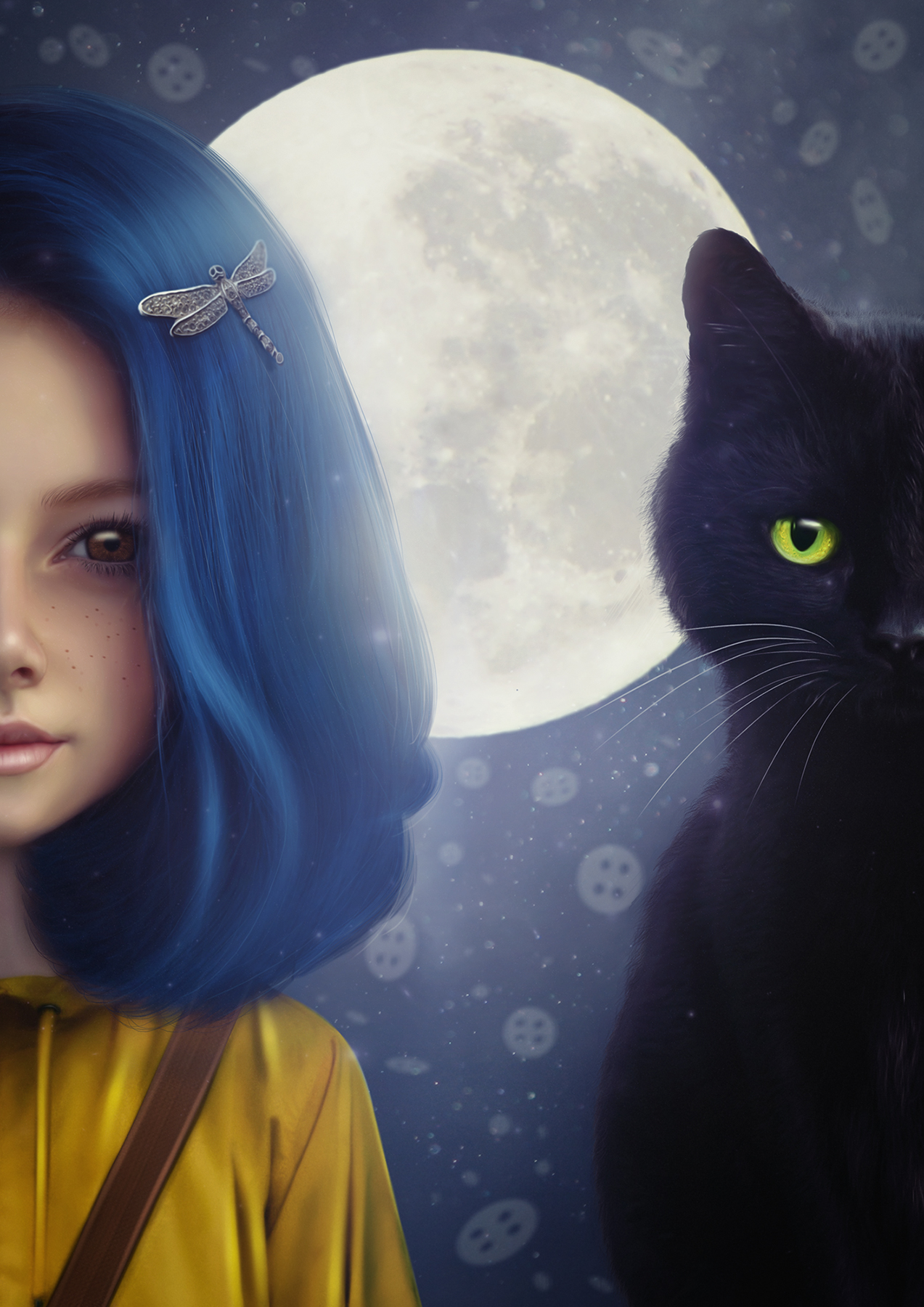 Coraline and cat