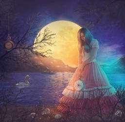 Lonely moments under the moonlight