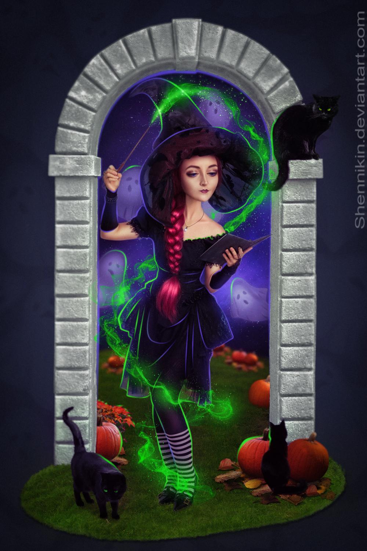 Magic of the Halloween night