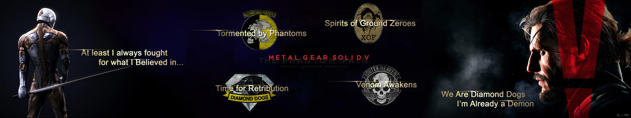 MGS V The Phantom Pain Triple Monitor Background by MoeStrif