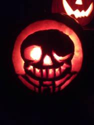 Sans the pumpkin  by TessCraft