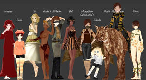 (3D) All my old MMD models part 1 [2013-2015] by felkus