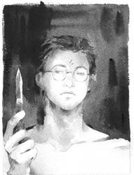 Harry with dagger by lillithium