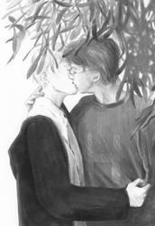 Under the Mistletoe by lillithium