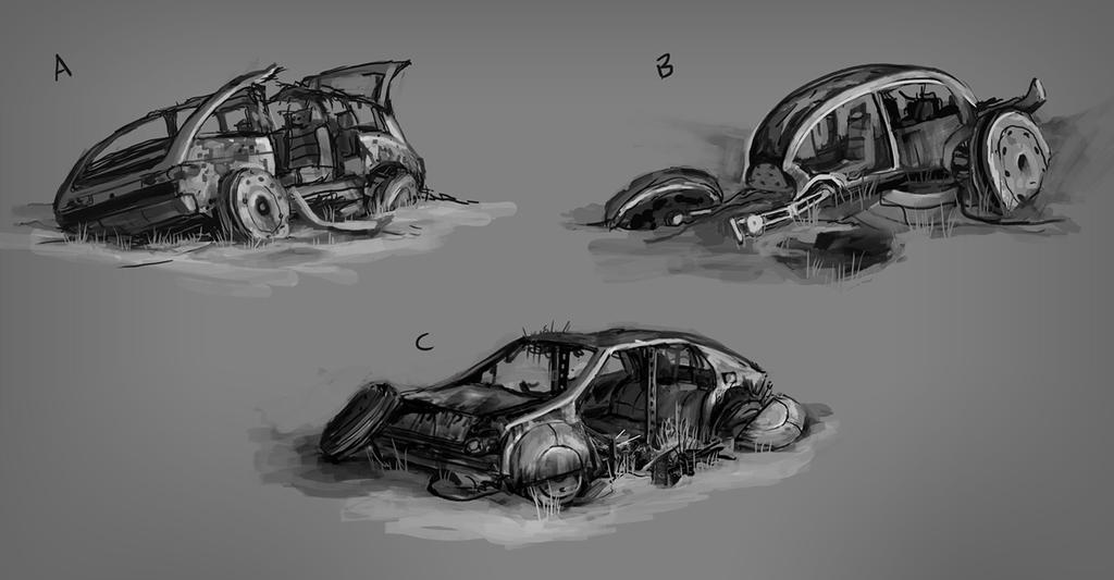 RUST - Vehicles Sketches 01 by Howi3