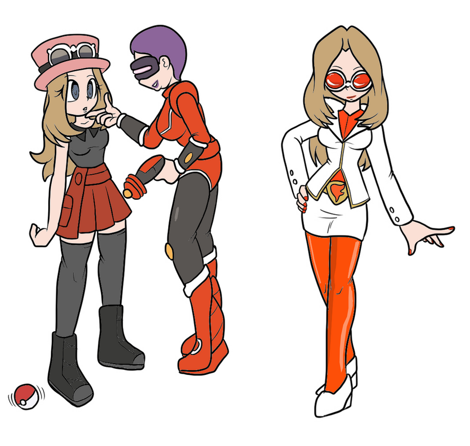 Serena the team flare admin by ChaosOverlordZ