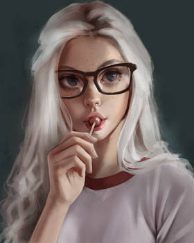 Sketchy portrait
