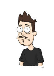 Selfportrait in 'Rick and Morty' Style